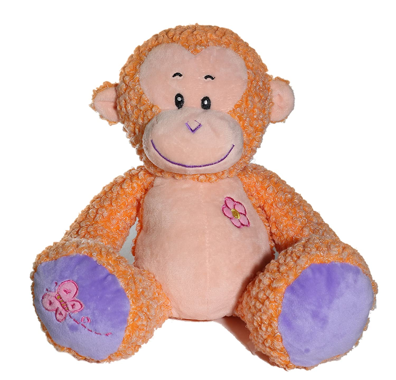 9 Monkey Animal Plush Doll Brown 10052-9 monkey Calplush Fluffy Colorful Sitting Animal Plush