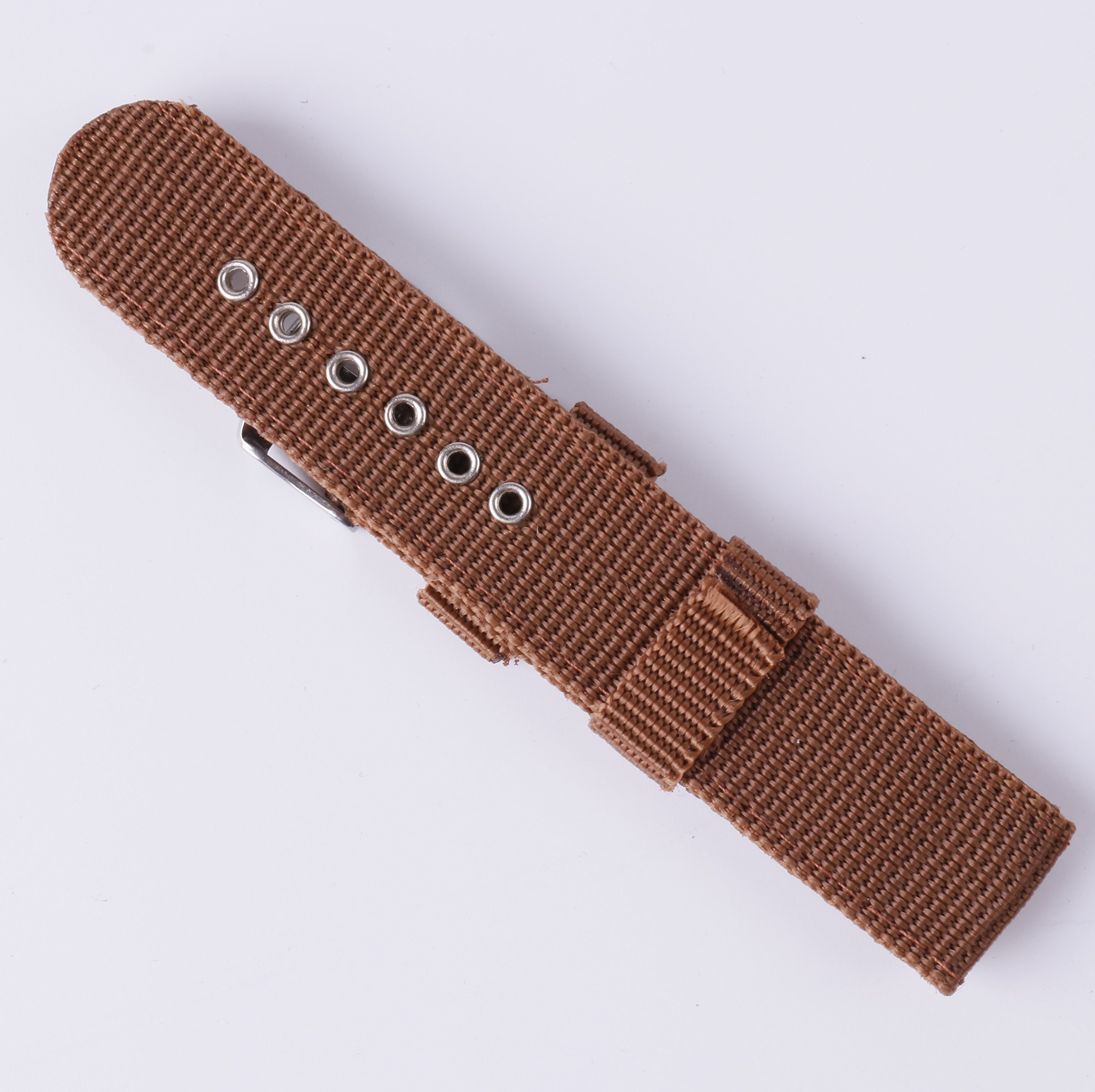 4pcs Nylon Watch Bands 16mm 18mm 20mm 22mm 24mm Premium Replacement NATO Style Watch Straps for Women Men by BONSTRAP (Image #5)