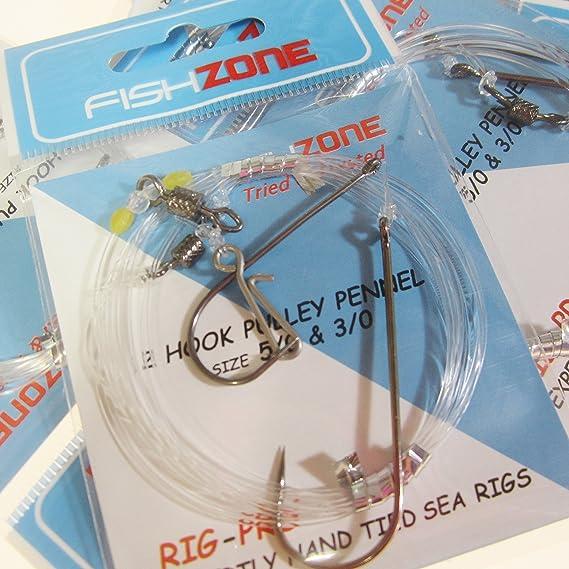 fishzone 2 hook flapper rig size 1//0.