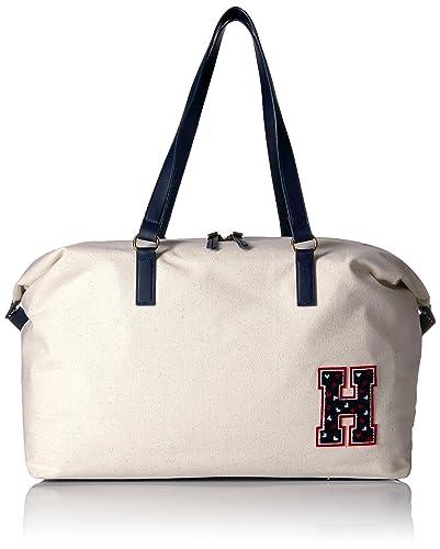 dc1f0c63799518 Amazon.com: Tommy Hilfiger Weekender Bag for Women Canvas, Natural ...