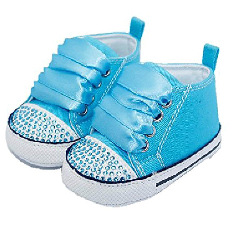 belle scarpe di bambino con cristalli e nastri f6XrmgZ3d