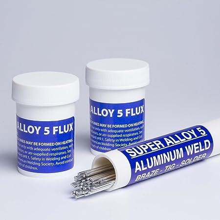 Full Kit 1//8 diameter Super Alloy 1 Soldering Rod /& Flux Kit