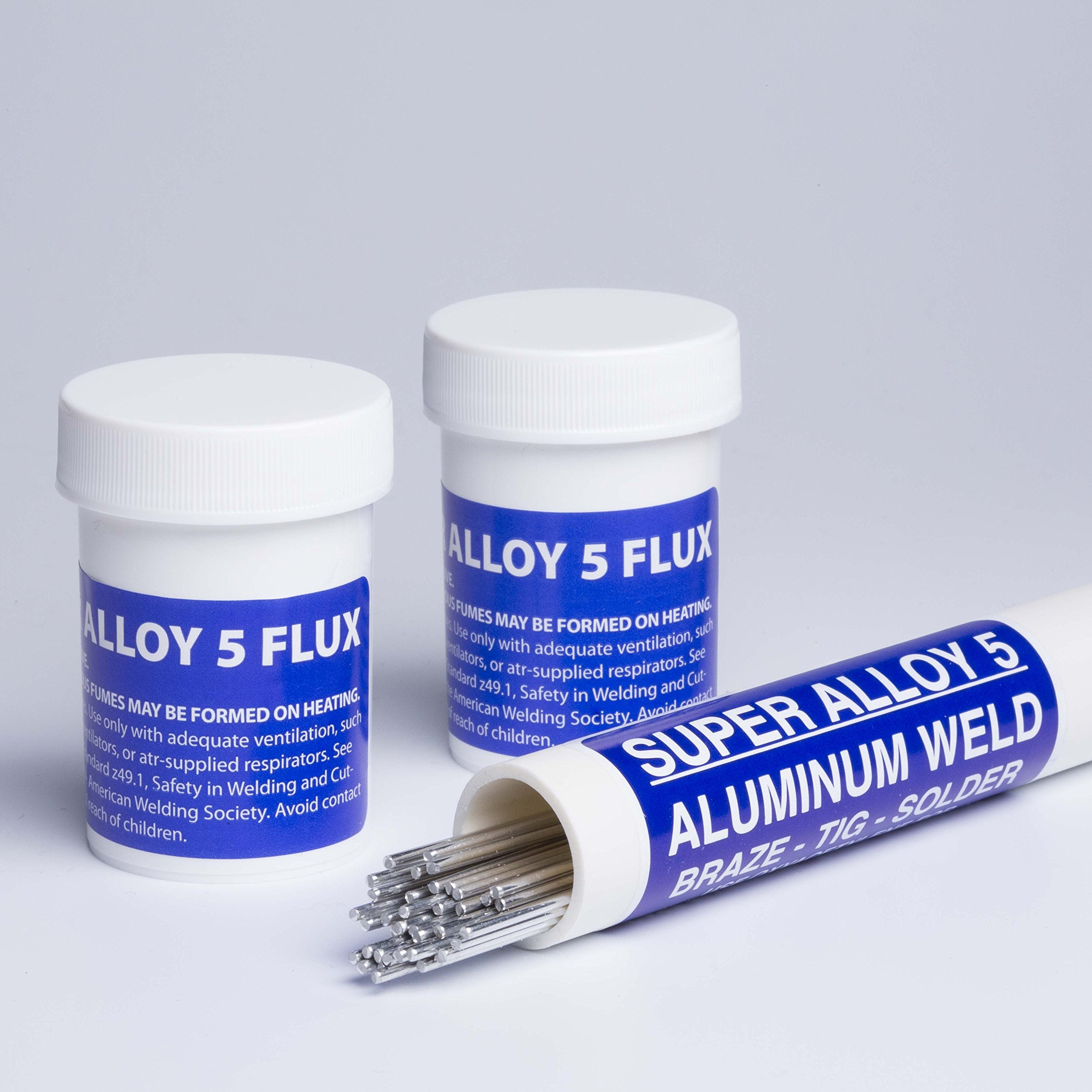 Super Alloy 5 Aluminum Welding and Brazing Rod Kit (Full Kit 1/16 diameter)
