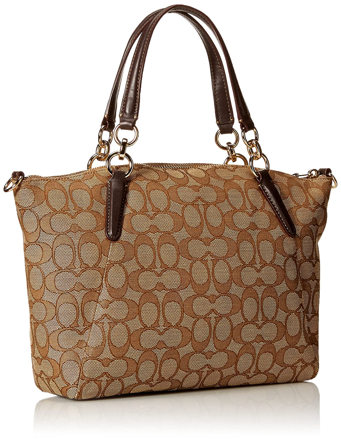 11cff45f9f45 Coach Women s Canvas Outline Signature Kelsey Handbag with Removable  Cross-body Strap  Amazon.in  Shoes   Handbags