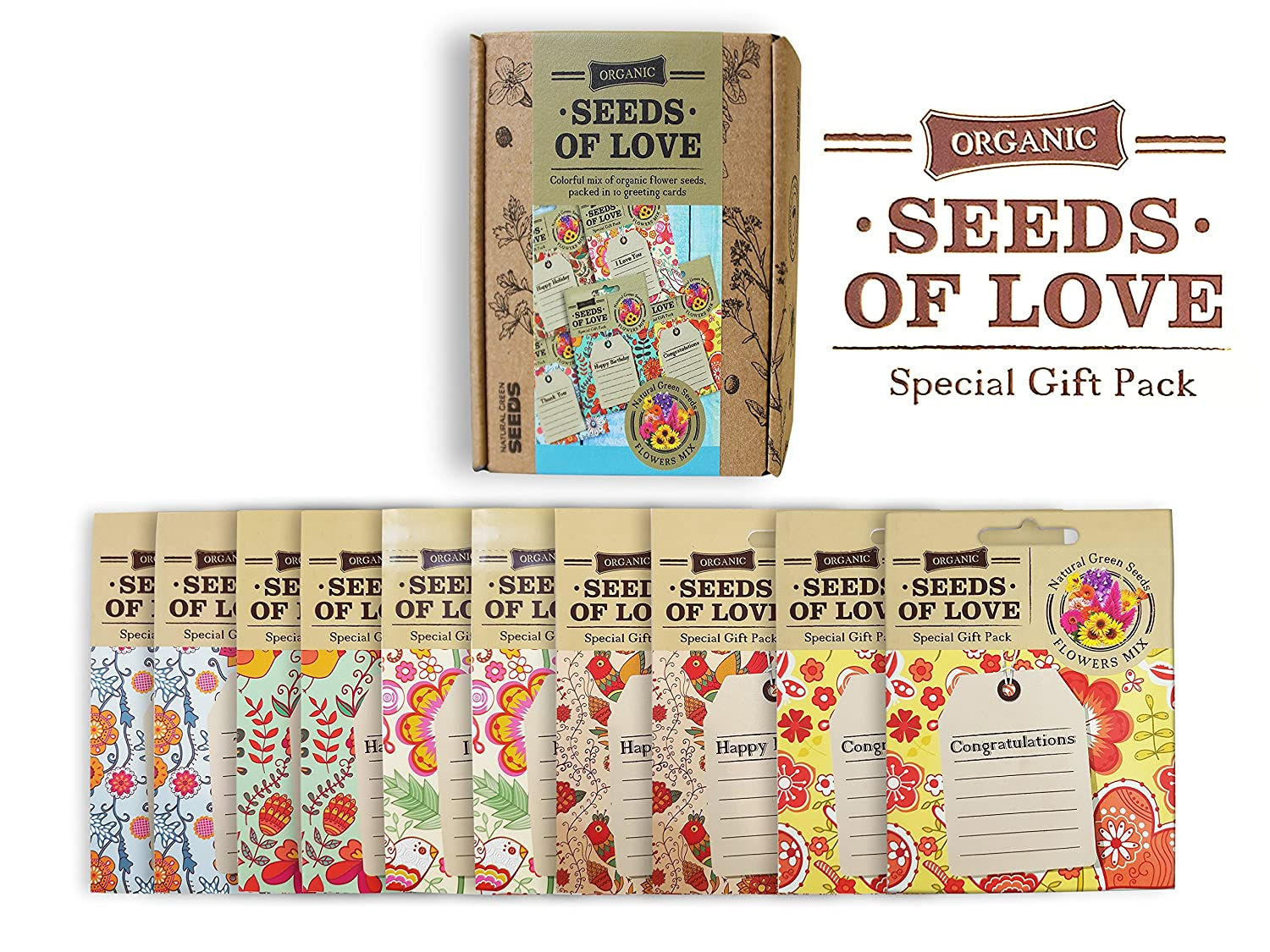 Amazon Seeds Of Love Greeting Cards With Organic Non Gmo
