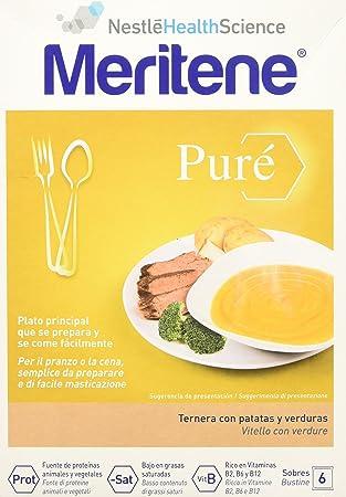 MERITENE Pure ternera con patatas y verduras 6 sobres: Amazon ...