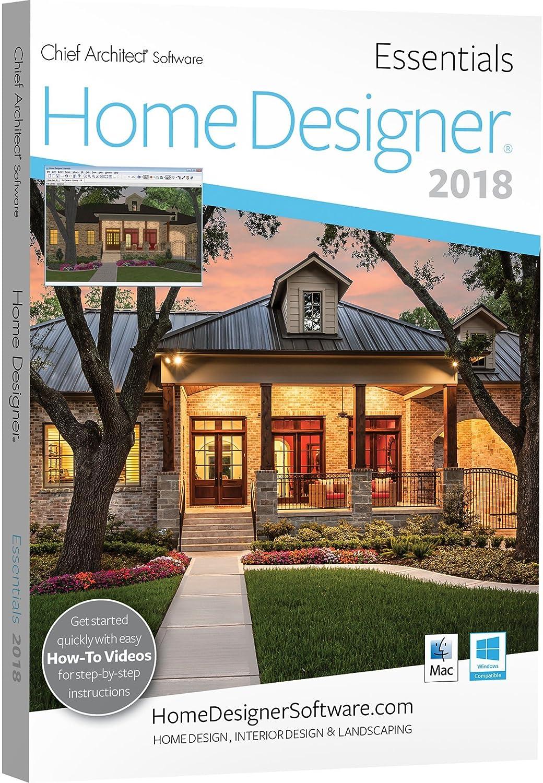 amazoncom chief architect home designer essentials 2018 dvd - Home Designer