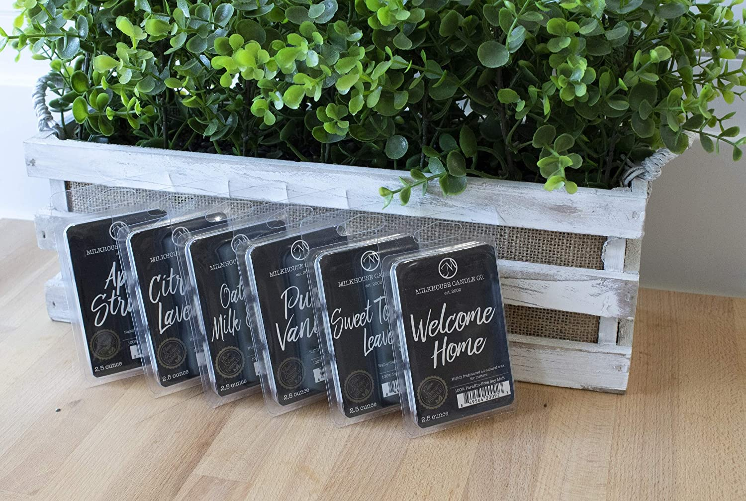 Milkhouse Candles Variety Fragrance Melts - Apple Strudel, Citrus & Lavender, Oatmeal, Milk & Honey, Pure Vanilla, Sweet Tobacco Leaves, Welcome Home, 6 Pack: Home & Kitchen