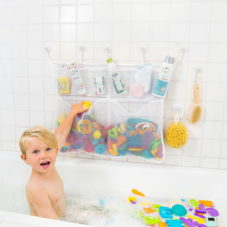 "Bath Toy Organizer -The Original Tub Cubby - Large 14x20"" Quick Dry ..."