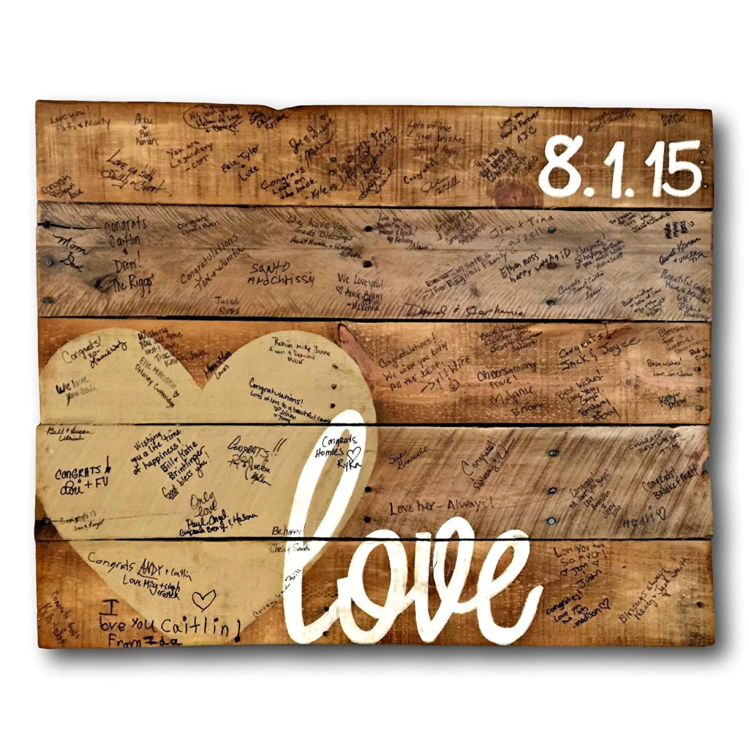 Alternative Wedding Guest Book.Wood Love Sign Alternative Wedding Guestbook Wedding Date Sign Wood Guest Book Sign