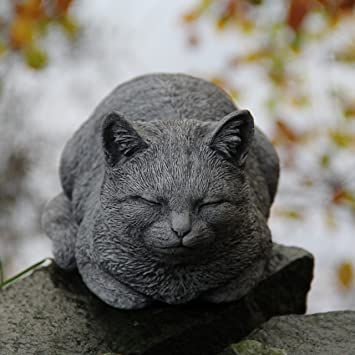 Dozing rôdant pour décoration de jardin Chat statue sculpture cadeau ...