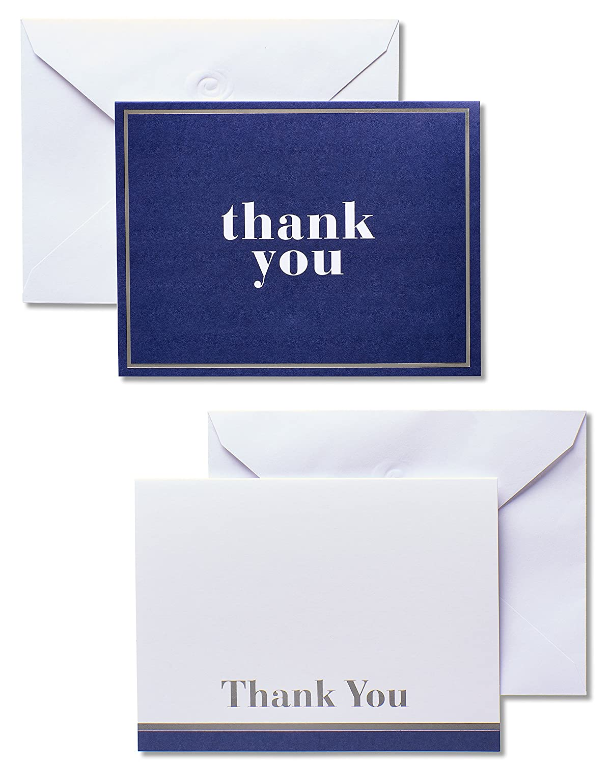 Amazon American Greetings Blue And White Thank You Cards And