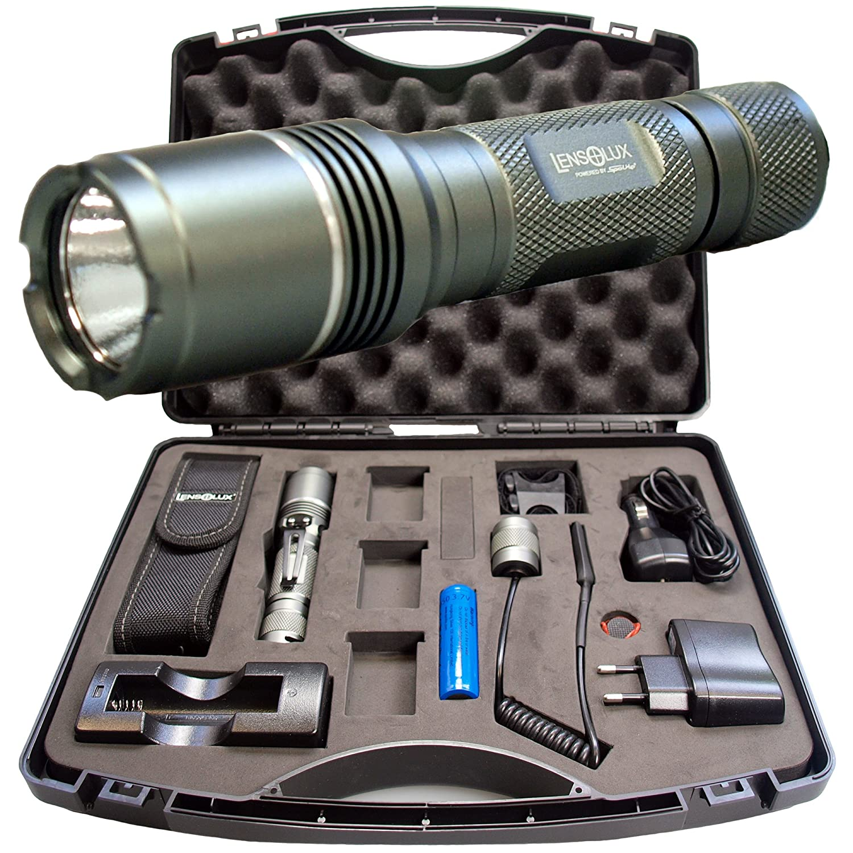 Lensolux 3W Cree-Taschenlampen-Set inklusive Tragekoffer