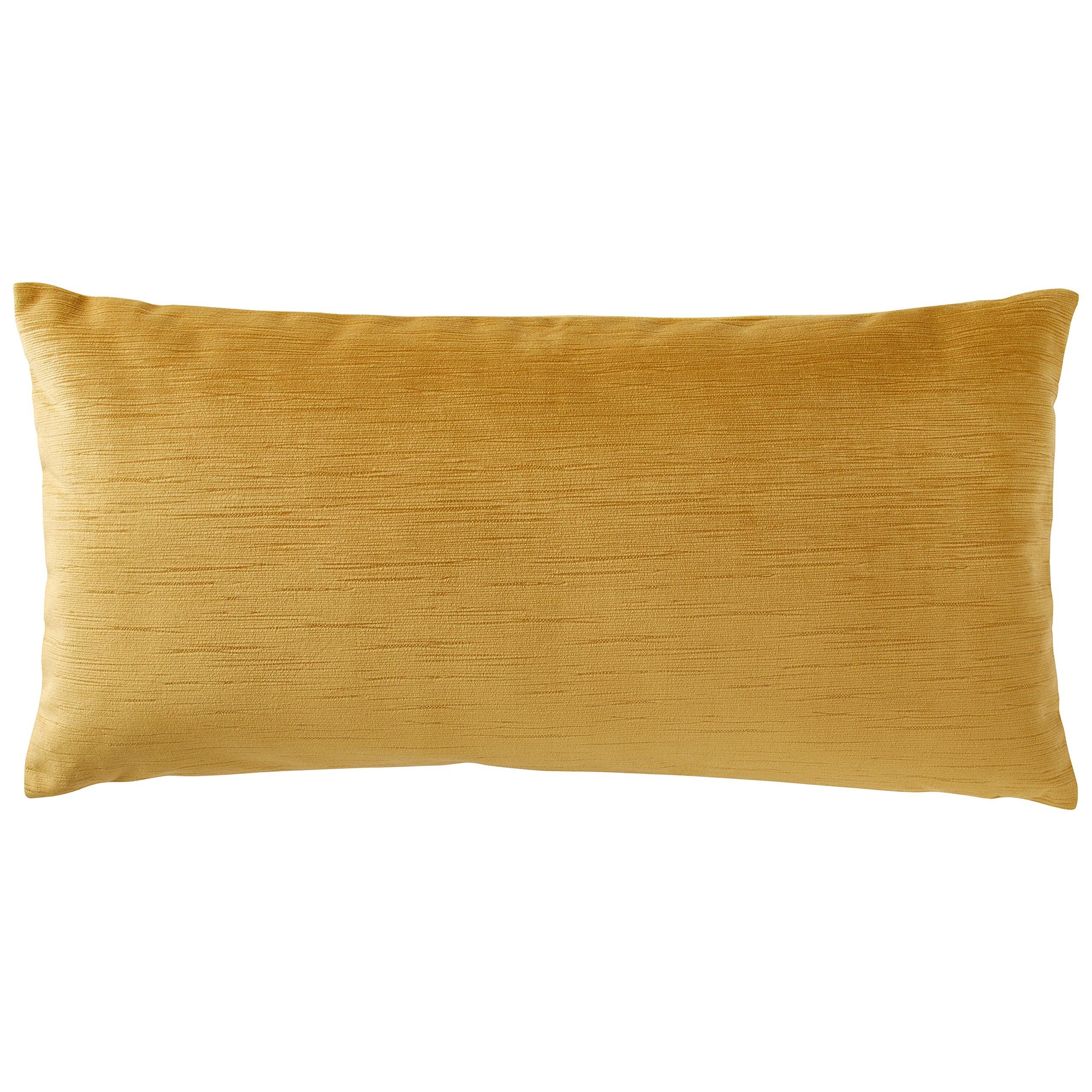 Rivet Velvet Texture Striated Pillow, 12'' x 24'', Honeycomb