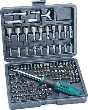 Mannesmann 29896 - Juego de puntas de destornillador, 122 piezas: Amazon.es: Bricolaje y herramientas