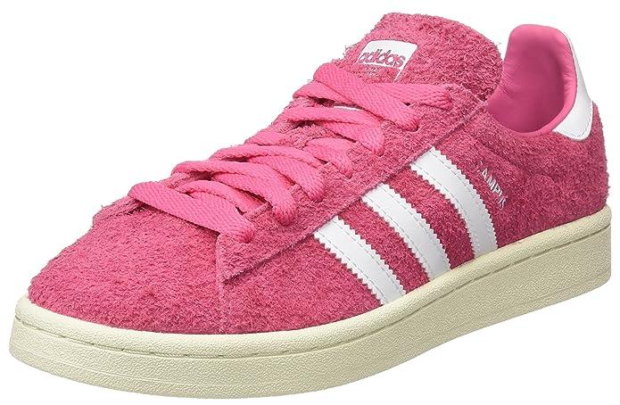 Rosa Herren adidas Campus Schuhe mit weißen Streifen