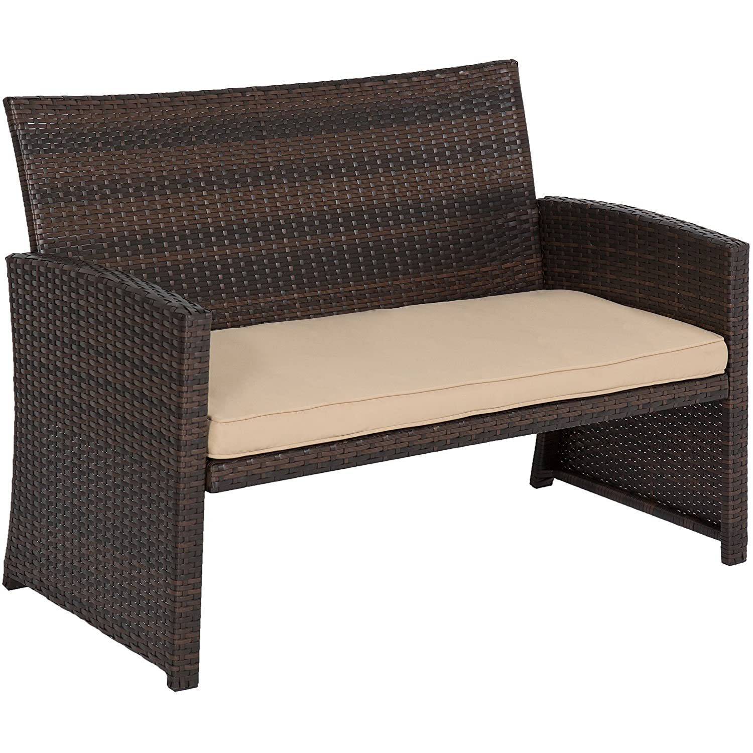 Amazon Best Choice Products 4pc Wicker Outdoor Patio