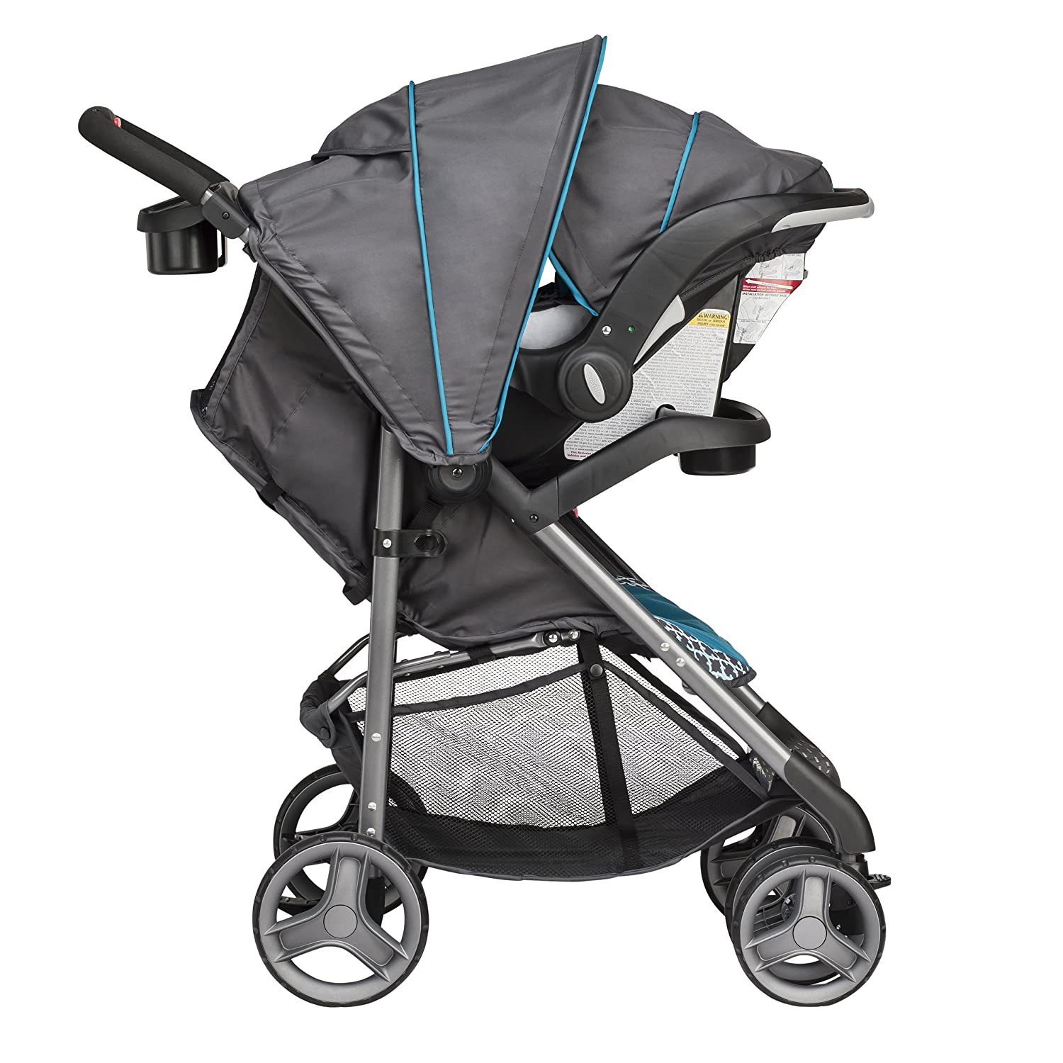 Evenflo Journey Lite Travel System W/Embrace, Monaco, Blue, White 47311330
