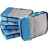 AmazonBasics 4 Piece Packing Travel Organizer Cubes Set - Large, Blue