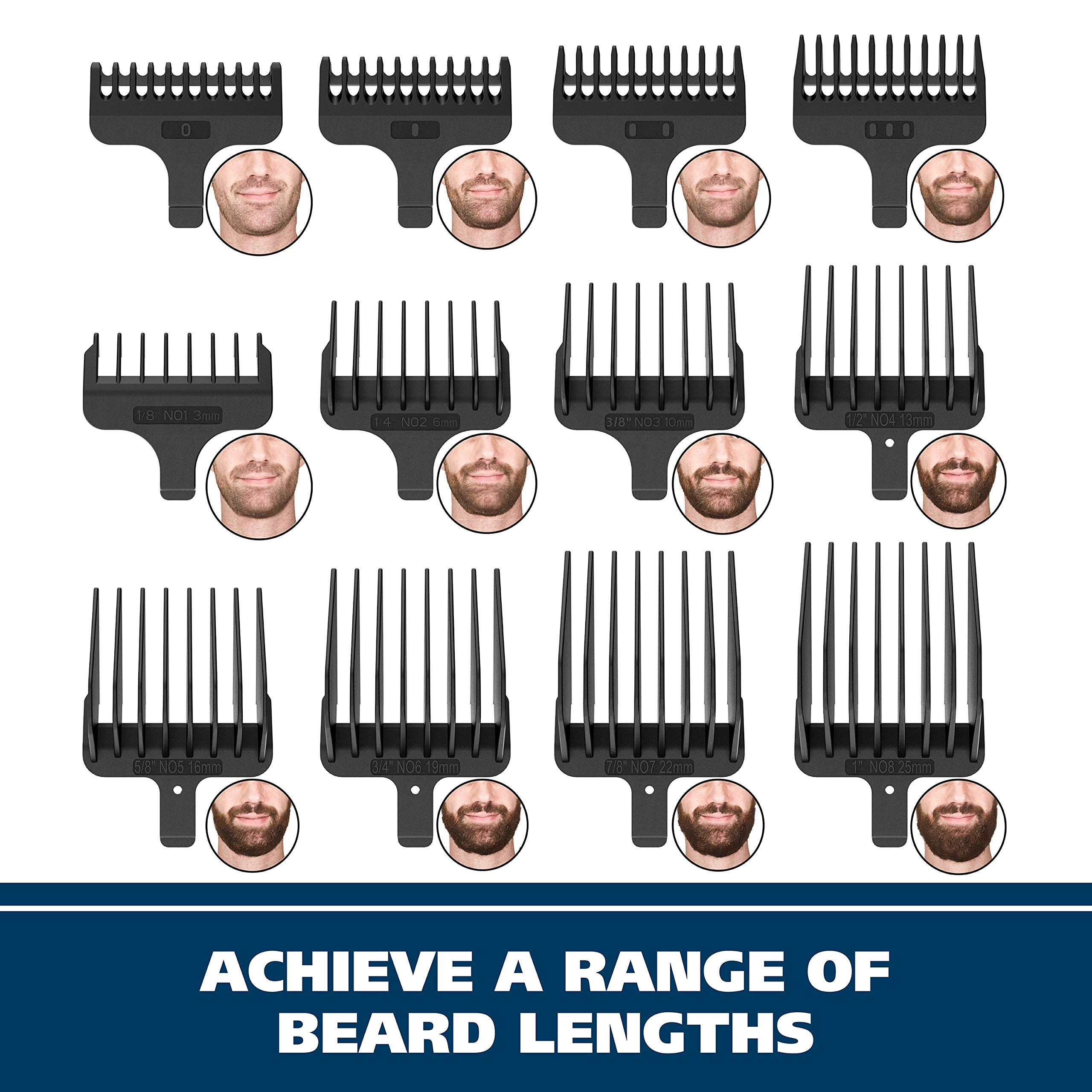 Wahl Clipper Stainless Steel Lithium Ion Plus Beard Trimmers for Men, Hair Clippers and Shavers, Nose Ear Trimmers, Rechargeable All in One Men's Grooming Kit, by the Brand used by Professionals #9818 by WAHL (Image #8)