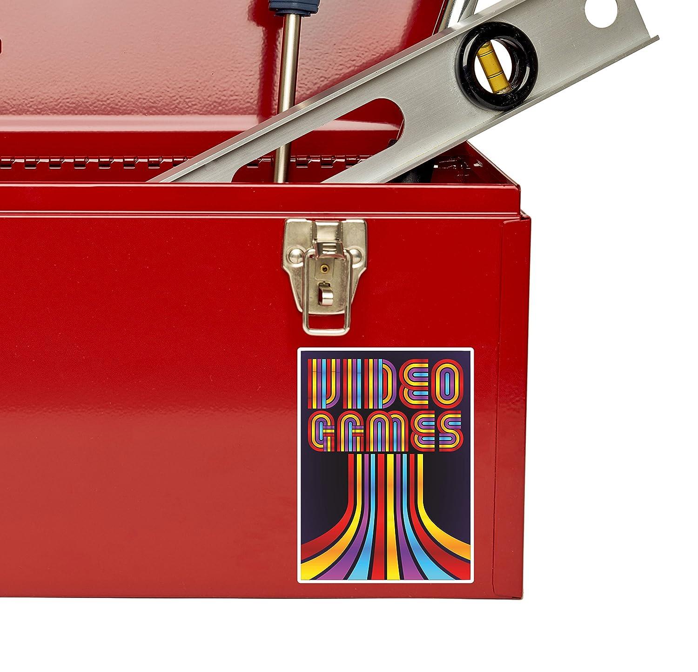 2 x Video Games Vinyl Sticker Laptop Travel Luggage #4798