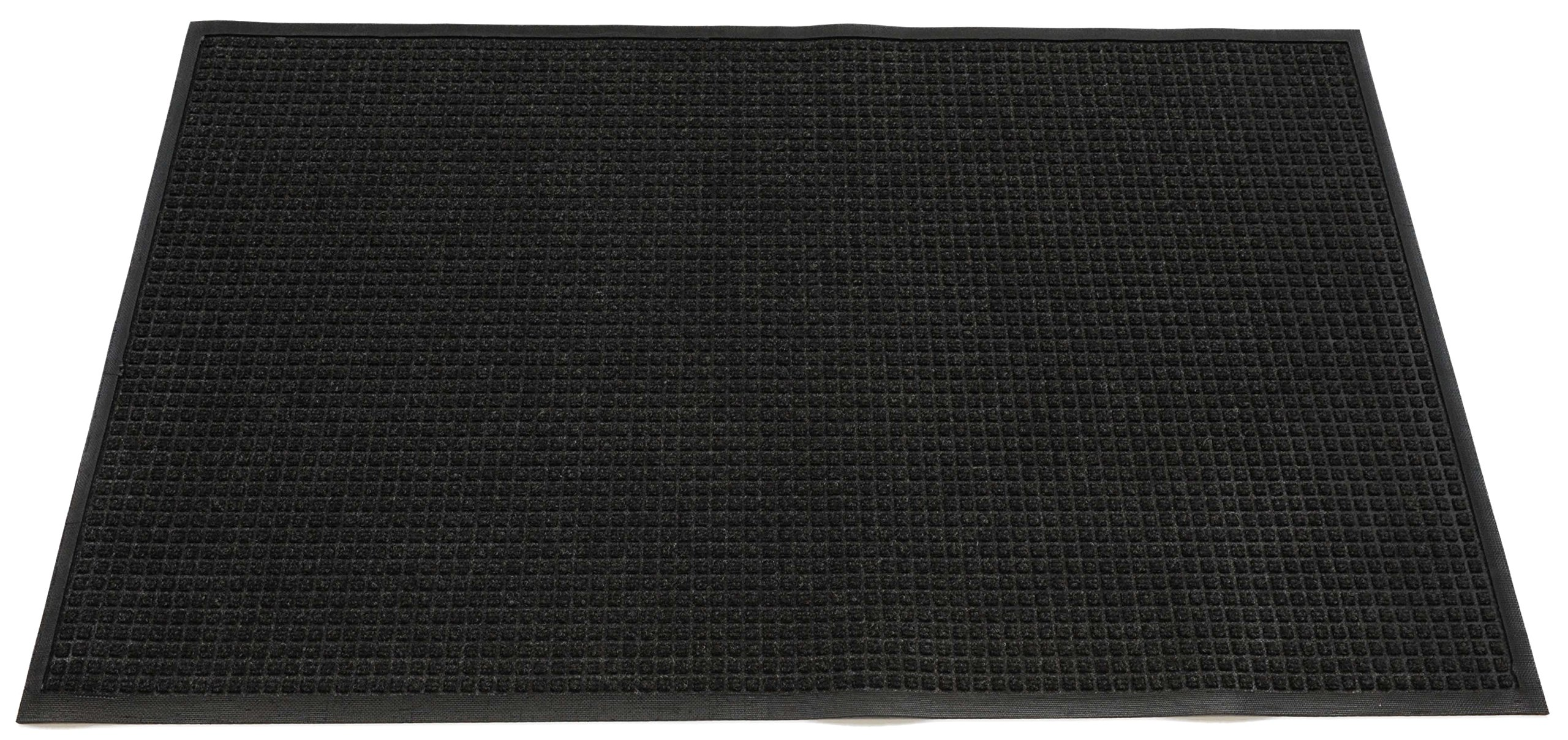 Americo Manufacturing 6907068 Aqua Dam Bi-Level Polypropylene Indoor/Outdoor Rubber Backed Matting, 6' x 8', Charcoal