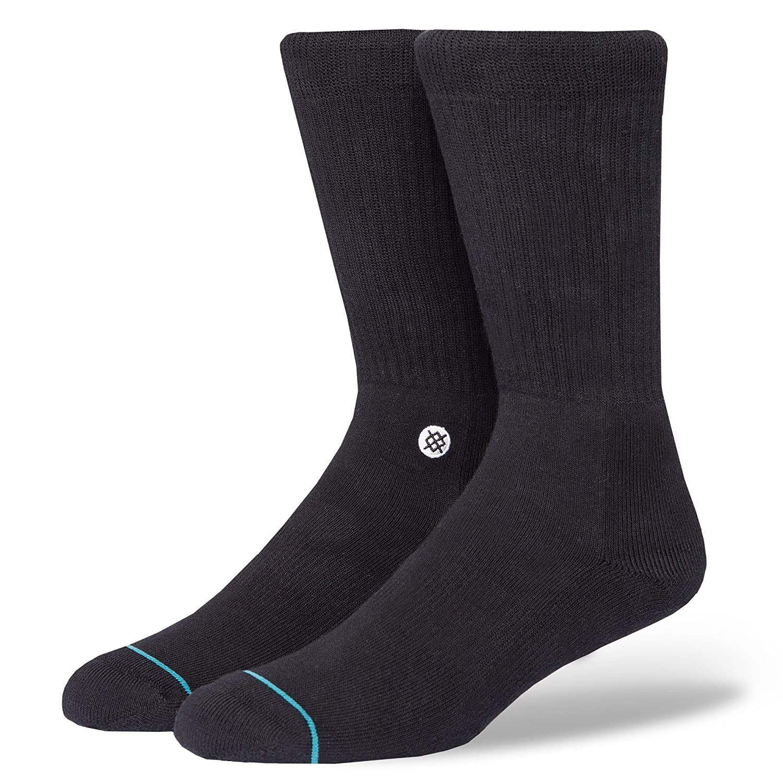 Stance Mens Icon Crew Socks Black White
