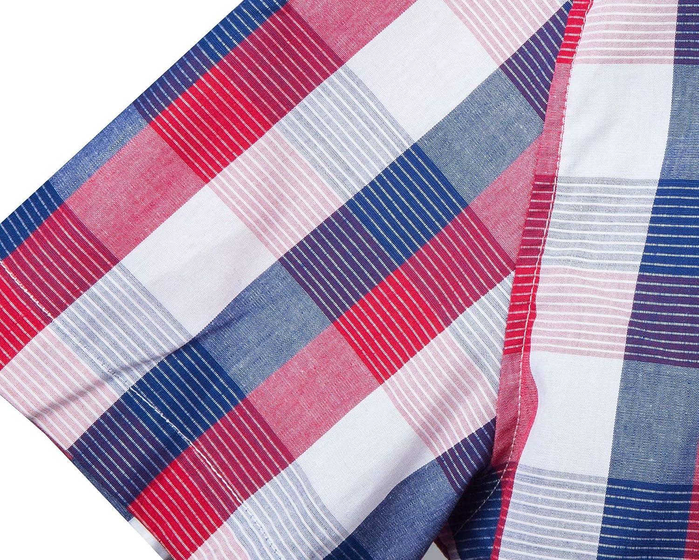 NUTEXROL Camisas de Hombre Camisa a Cuadros Camisas de Vestir de Manga Corta Varios Estilos C/ómodo y Moderno para Verano Cada Estilo Tiene 6 Tallas Casual