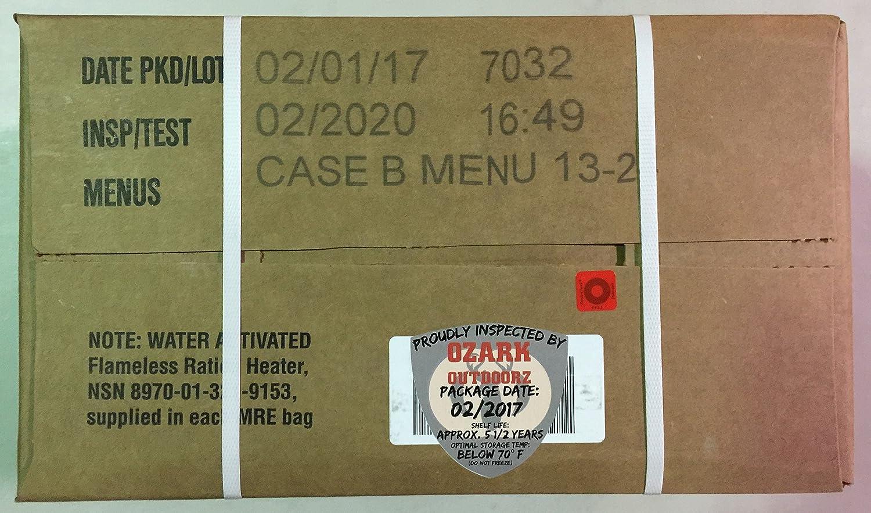 BE PREPARED MRE 2 CASE SET A/&B MENU INSPECT DATE 7//2021 PLEASE READ C PIC # 7
