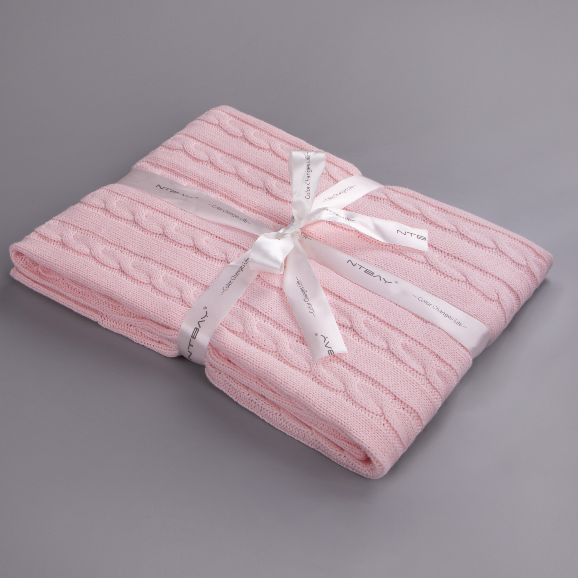 30x 40 Baby Pink NTBAY Cotton Cable Knit Toddler Blanket Super Soft Warm Multi Color Baby Blanket