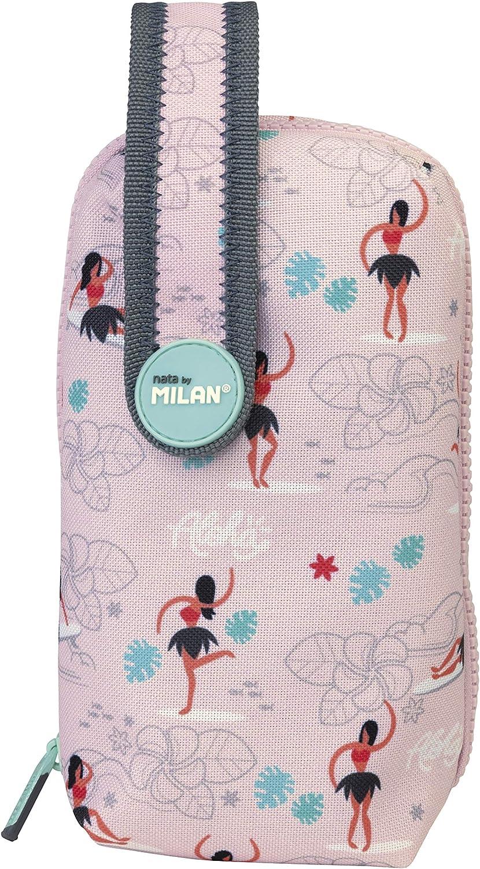 Milan Kit Un Estuche con Contenido Hula Estuches, 19 cm, Rosa: Amazon.es: Ropa y accesorios