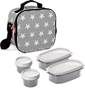 TATAY Urban Food Insulated Lunch Bag with Airtight Included One Size Grey