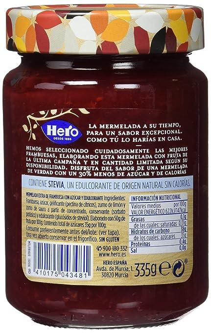 Hero Temporada Light Mermelada Frambuesa, Frasco de Cristal - 335 g: Amazon.es: Amazon Pantry