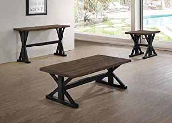 Simmons Upholstery Rectangular Sofa Table In Distressing Oak Finish