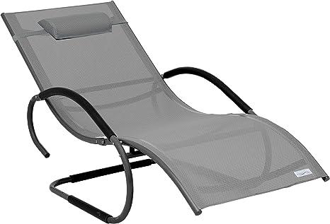 Meerweh Luxus Xxl Aluminium Schwingliege Swingliege Gartenliege Sonnenliege Grau Amazon De Kuche Haushalt