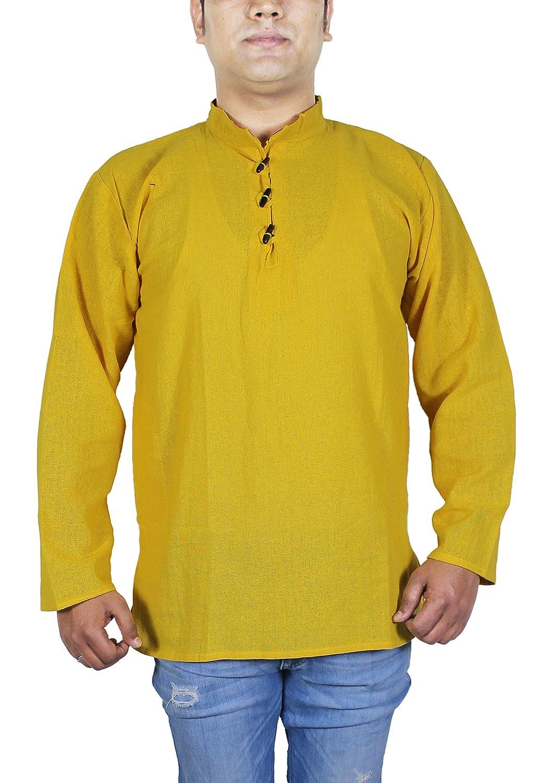 SKAVIJ Herren T Shirt Kurzarm Casual Polo Baumwolle Schwarz Indian Spring Kleidung -L M-KS4