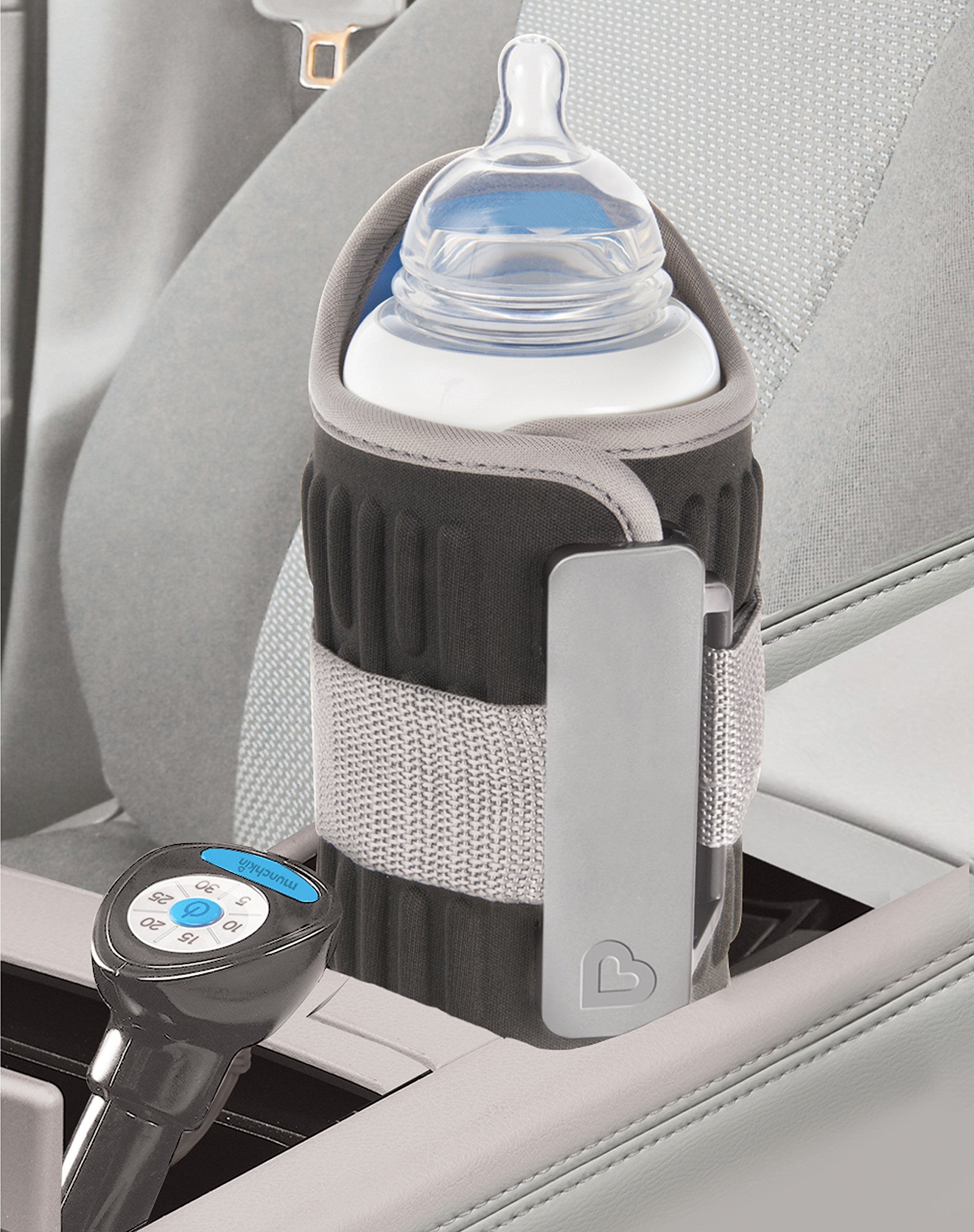 Munchkin Travel Car Baby Bottle Warmer, Grey by Munchkin (Image #4)