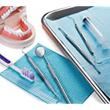 Dental Kit Mirror Hygiene Kit Toothpick Tartar Scraper Tools Plaque Remover, Professional Surgical Grade elco stainless steel cleaner, Braces Dog Orthodontic oral hygiene 4 Tool Kit by Diamond Driven