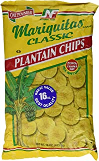 2PK Mariquitas Classic Plantain Chips 16oz each bag / Platanutres