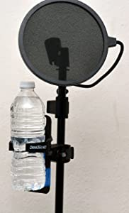 Music Mic Microphone Stand Drink Cup Beverage Holder