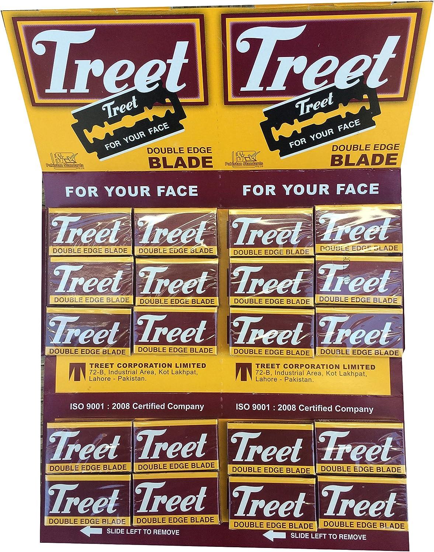 200 Cuchillas de afeitar Treet Carbon Steel