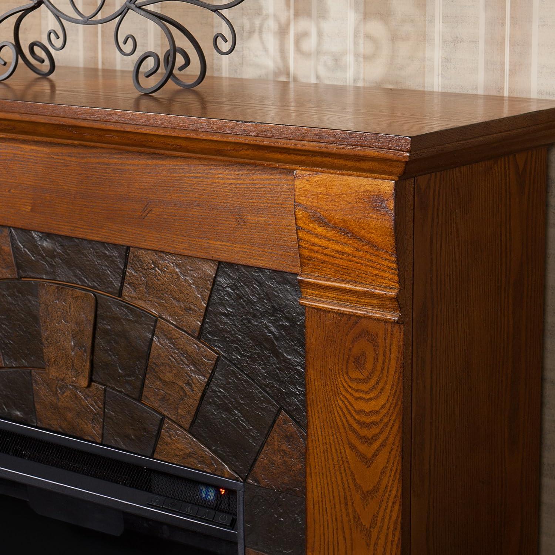 amazon com elkmont electric fireplace salem antique oak