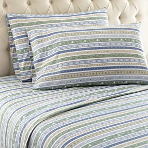 Shavel Home Products Flannel Printed Sheet Set Multi 4 Piece Full