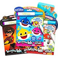 Baby Shark Coloring and Activity Book Super Set ~ Bundle Includes 3 Mess Free Magic Coloring Books with Bonus Stickers…