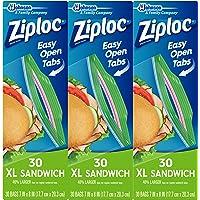 Ziploc Sandwich Bags, XL, 3 Pack, 30 ct