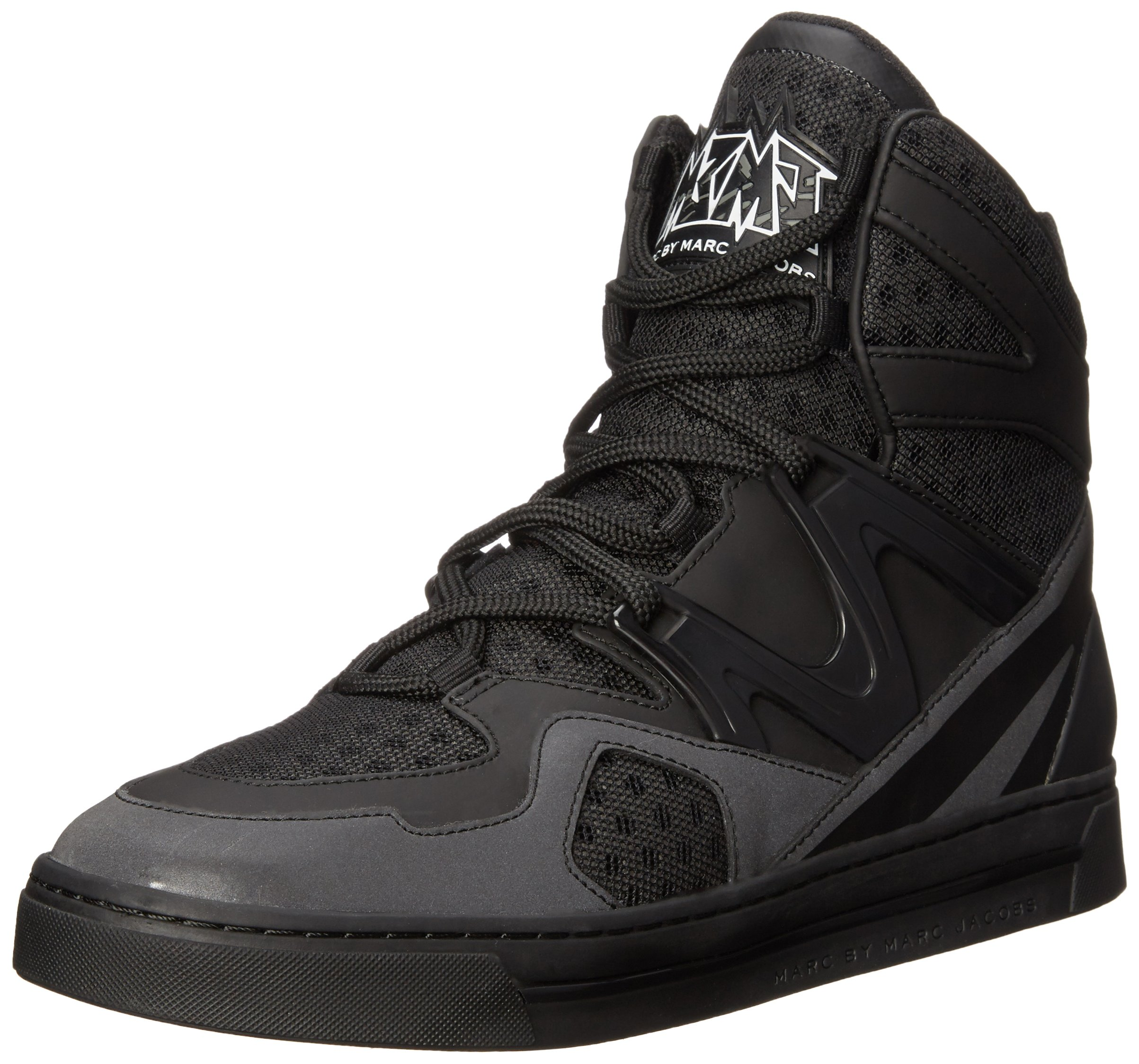 Marc by Marc Jacobs Women's Ninja Hi-Top Fashion Sneaker, Black, 37 EU/7 M US