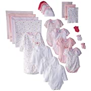 SpaSilk Essential Newborn Baby Layette Set - 0-6 Months - Pink Girl, Set of 23
