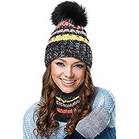 EGOGO Beanie Hat Scarf Set Snow Knitting Skull Hat Ski Fleece Lining Skull Beany Cap for Women E601-8