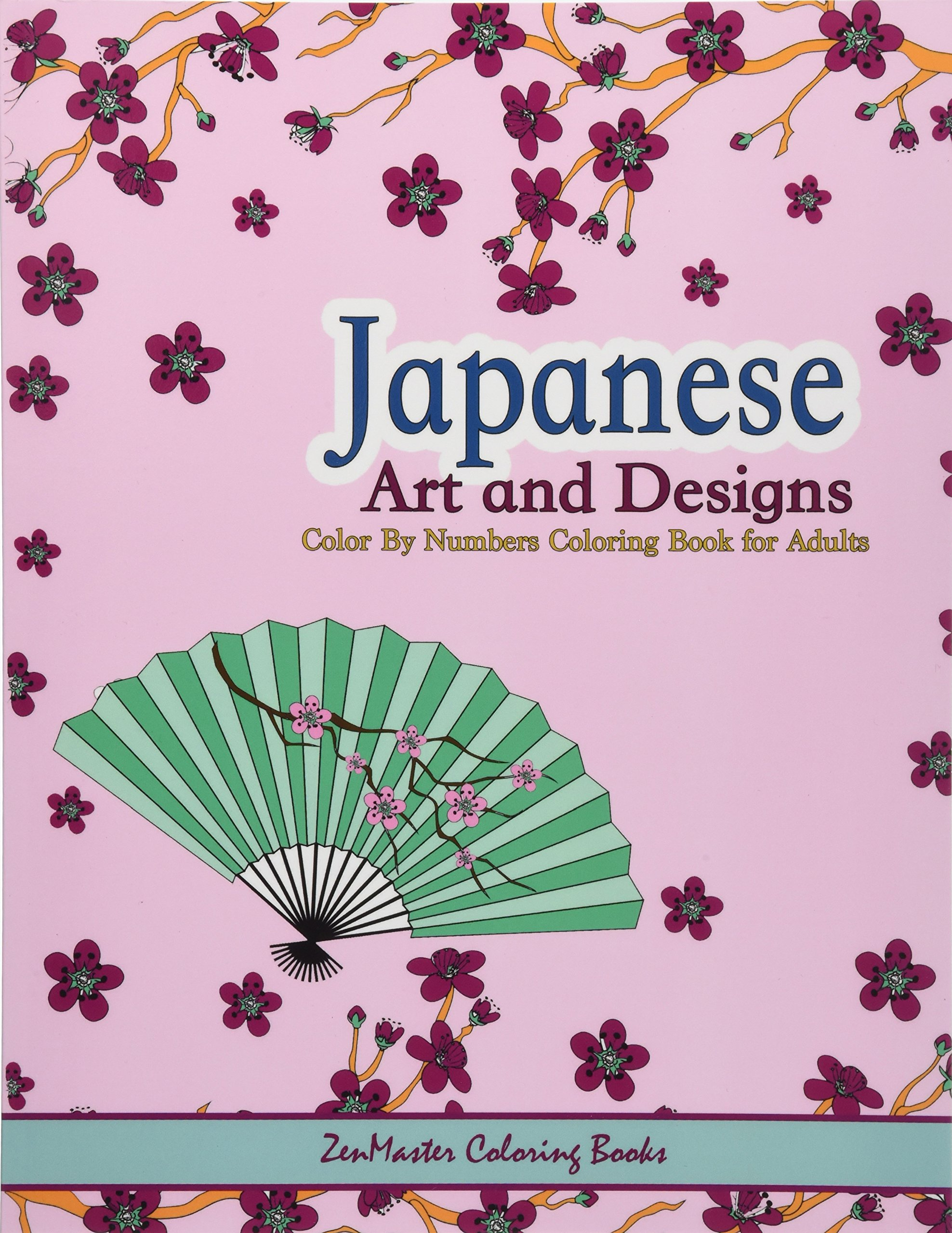 amazon japanese art and designs color by numbers coloring book for