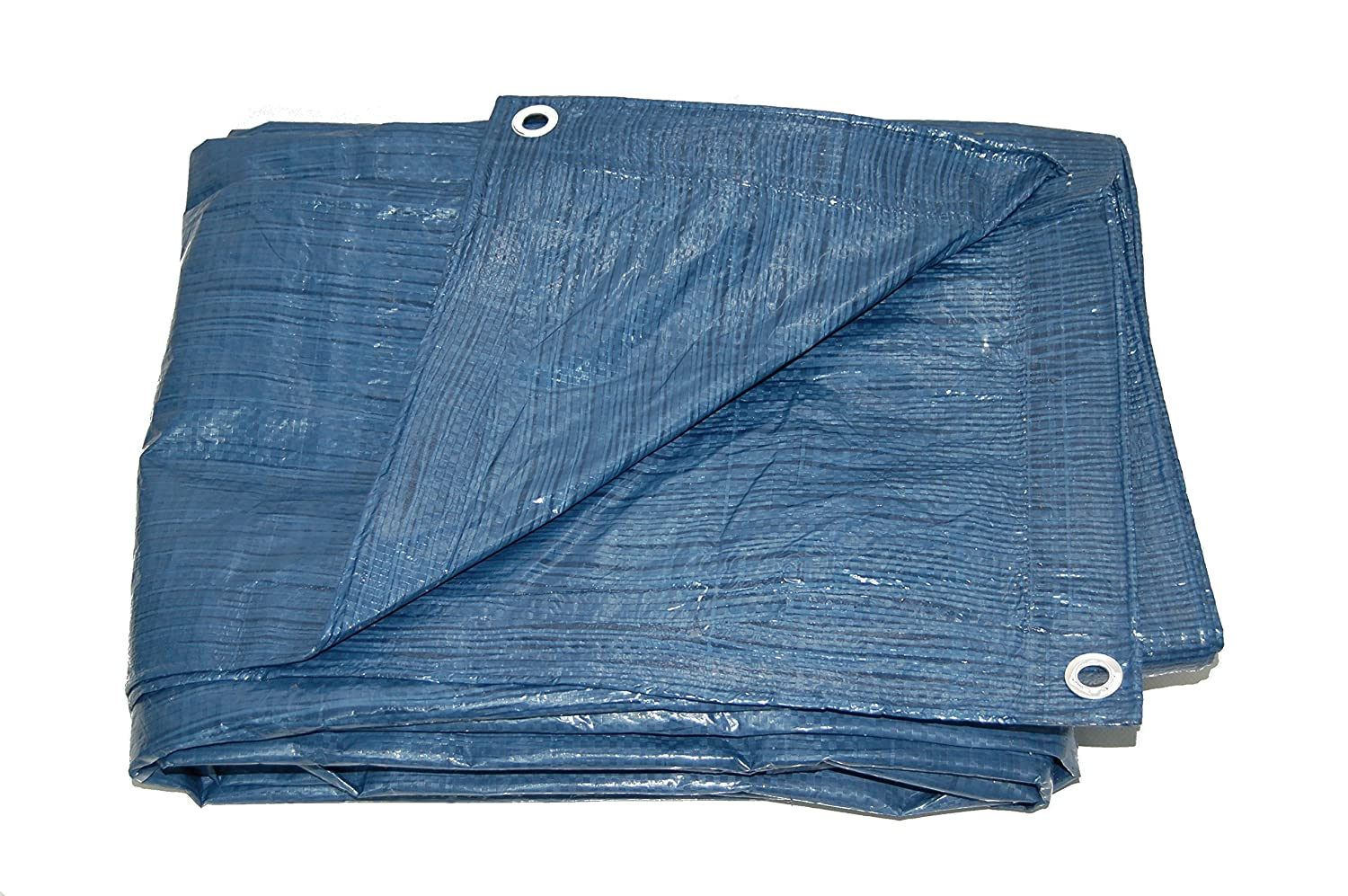 8x8 Weave Gosport Manufacturing Co. 5.1 mil All Season Blue Poly Tarp 12X24